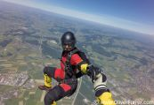 Freefly jump over the Berne Alps