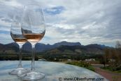 view over all the Franschhoek winerys